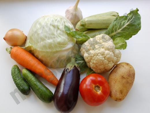 спелые овощи