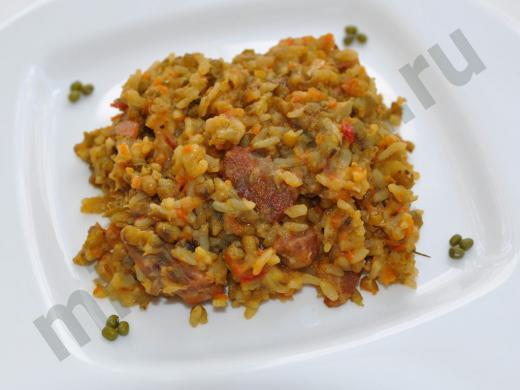 маш с рисом и мясом