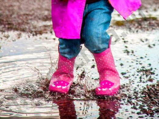розовые резиновые сапоги для девочки
